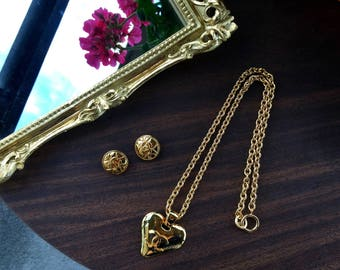 Vintage Coco Chanel Heart necklace (Year 1993)