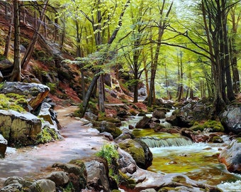A Forest near Ilsenburg in the Harz Painting by Peder Monsted Art Reproduction
