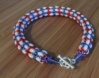 Independence Day Bracelet// 4th of July // Gifts for her