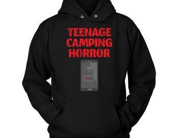 Teenage Camping Horror Hoodie Gift Gear Hoodies Shirt Unisex Adult Clothing