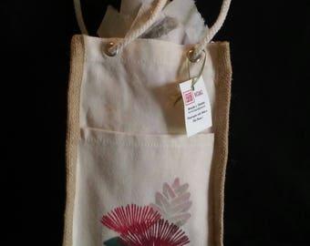 Ohia-Lehua Canvas and Jute Gift Bag