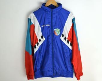 Adidas Windbreaker Men S Women M L 90s windbreaker Adidas Vintage Windbreaker Blue Adidas jacket 90s Adidas 3 stripes Vintage jacket Men S