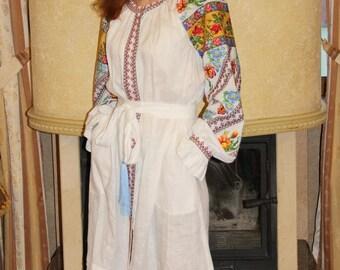 Embroidered Dress Ukrainian Embroidery Ukrainian Clothing Boho Chic Dress Embroidered Abaya Polinesia