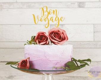 Bon Voyage Cake Topper | Goodbye Cake Topper | Travel Cake Topper | Bon Voyage Party Decor | Aeroplane | Retirement | Farewell part decor