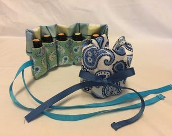 Oil Lover Gift: Essential Oil Travel Pouch, Travel Oil Bag, Oil Carrying Bag, Essential Oil Bag, Essential Oil Pouch, Essential Oils Case