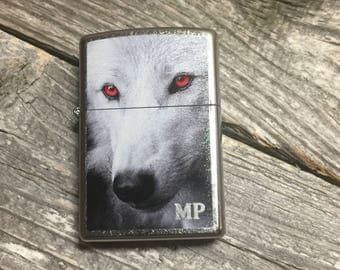 Personalized Zippo -Wolf Design - Engraved Zippo Wolf Lighter - Groomsmen Gift - Gifts for Him, Gift for Her, Graduation Gift