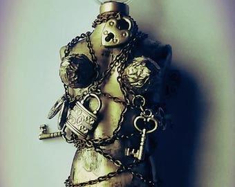 Decorative Houdini glass bottle