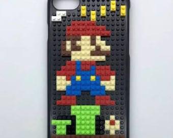 iPhone 7 Case DIY Miniblock Mario Inspired Pixel Phonecase and Miniblocks ~ Custom Made