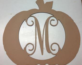 Pumpkin with your monogram