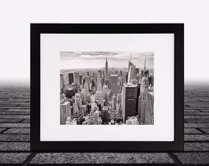 New York Photography framed - Midtown, fine art print - vintage photography - Manhattan - New York skyline - framed black and white photos