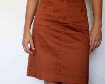 Dark Orange Skirt