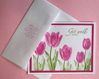 Pink Tulip Card 4 Pack