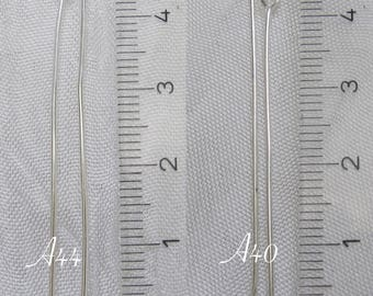 100 stems choose head or eye 45mm x 4.5 cm silver-plated clear 0.8 mm * 40 * A44