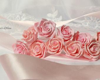Bridal hair pin, florar hair pin, wedding headpiece