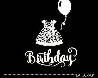 cuts scrapbooking baby baby girl bow Word birthday dress birthday balloon embellishment Scrapbook die cuts