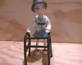 Decorative figurine: A great Grandma of cold porcelain.