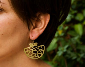 Bronze - ethnic style dangle earrings