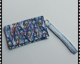 Cell Phone Wristlet - Corpse Bride Emily inspired