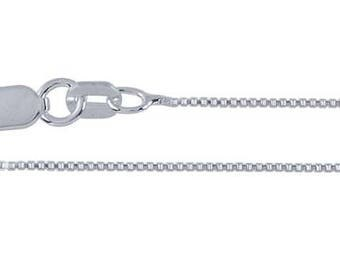 Sterling Silver Box Chain .7 mm