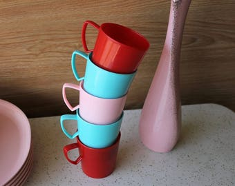 Gothamware Plastic Camping or Picnic Cups - Vintage 60s