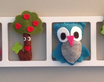 Child and idea - woodland owls - puffy and unique baby room decoration!