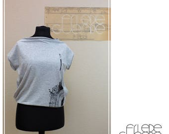 gray shirt with screenprint graphic by Daile