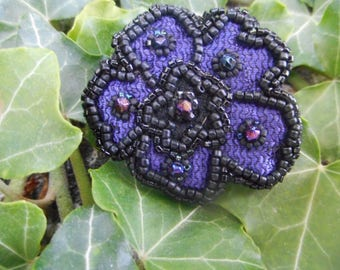 embroidered ring on lace