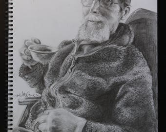 Custom Graphite Portrait Drawing from Photo