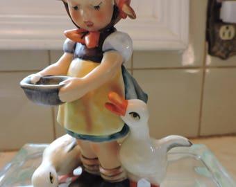 Be Patient Hummel Goebel Figurine Girl Feeding Ducks W. Germany Figure Collectible
