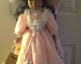 """Porcelain, Collectible, Vintage, Seymour Mann Connoisseur Doll Collection """"Creole"""" Tagged and Signed"""
