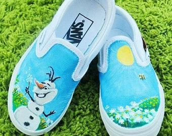 Olaf in Summertime Slip Ons