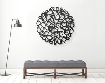 Abstract wall art, metal wall art, modern wall art, contemporary wall sculpture, minimalist wall art, round wall art, wall decor, glyphs
