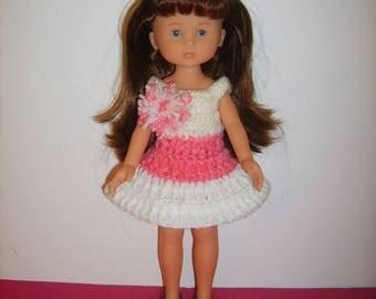 Dress crocheted doll 33cm