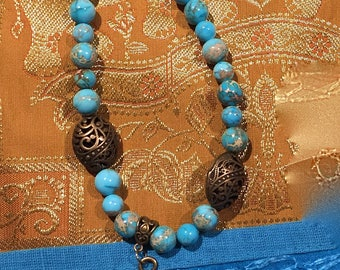 Natural stone Buddha beads necklace