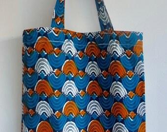 Tote bag in Wax. Shopping bag. Hand bag. Beach bag... Handmade in Paris