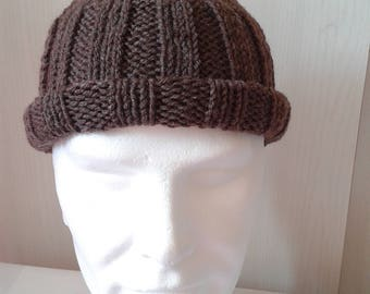 Brown wool hats