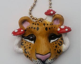Psychedelic Leopard Necklace