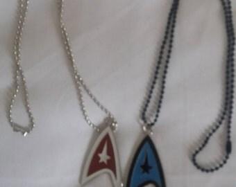 Star trek insignia necklace