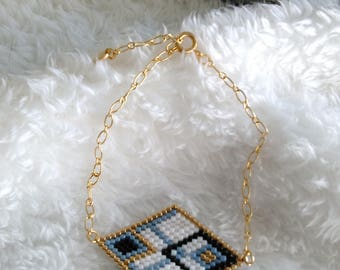 Diamond bracelet with miyuki beads