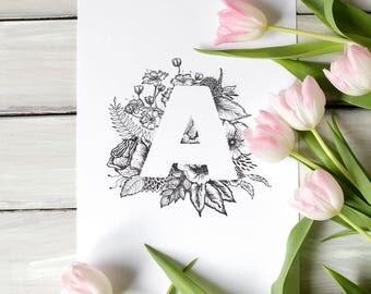 Fine art print - letter A