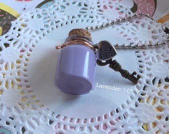 Slime Bottle Necklace/Keychain (Lavender)