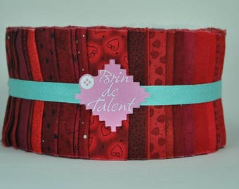 Quilt Roll Carmine - strips of fabric for quilt - Jelly Roll