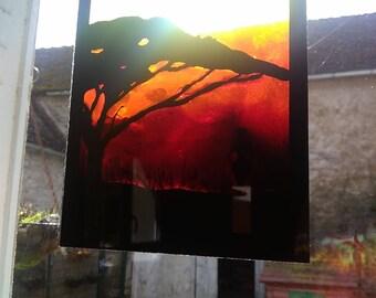 Africa window plate