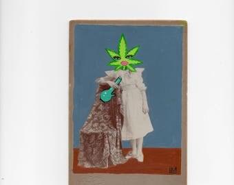 Leafhead - Cannabis Inspired Cabinet Card