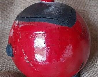 Ball box secret RAKU red/black