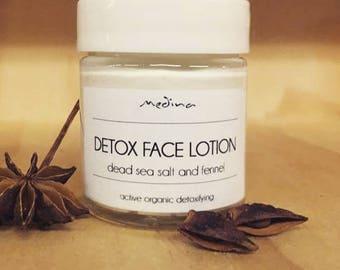 Detox Face Lotion - dead sea salt and fennel