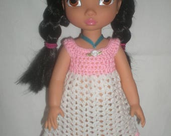 Pink and white outfit for disney animators crochet