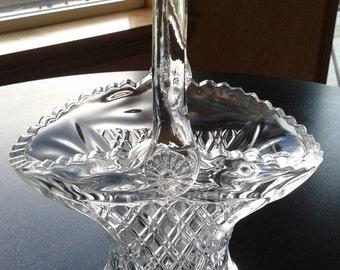 "Princess House Lead Crystal 10"" Basket"