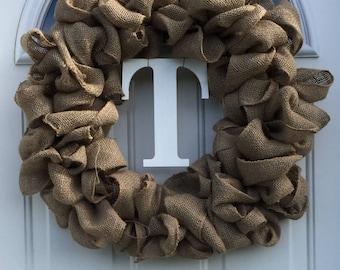 Front Door Wreath, Burlap Wreath, Year Round Wreath, Made to Order, Easy Wreaths,
