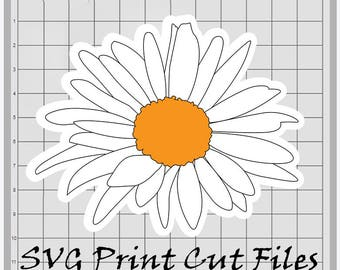 80% Off Sale White Sunflower SVG Sticker Digital Quilling Paper Flower Template Clipart Instant Download Printable Circut Cutting File